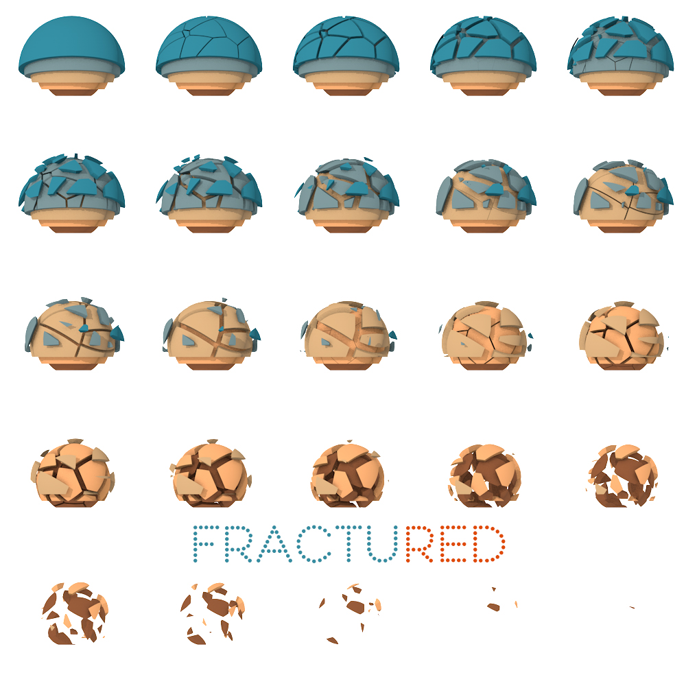 fractured ball